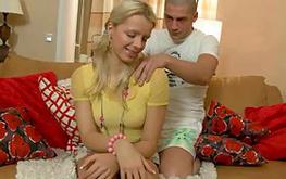 Deepthroat blowjob for a lucky boyfriend