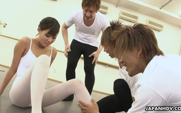 Three dance teachers and a slutty young ballerina Ruri Kinoshita